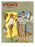 &quot;Sunscreen&quot; Saturday Evening Post Cover, August 16, 1958 Giclee Print by Kurt Ard
