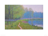 The Wey at Sutton Place Giclee Print by Nicholas Verrall