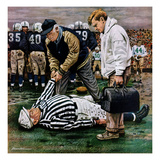 """Ref Out Cold"", November 25, 1950 Giclee Print by Stevan Dohanos"