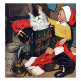 """Truth About Santa"", December 15, 1951 Giclee Print by Richard Sargent"