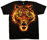 Fantasy- Fire Tiger T-shirts