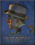 Knapp-Felt, Magazine Advertisement, USA, 1920 Mounted Print