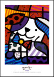 Ginger Mounted Print by Romero Britto