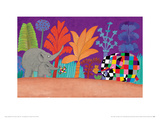 Elmer, Wilber and Teddy Giclee Print by David Mckee