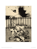 Dogs In The Wind Giclee Print by  JOMAC