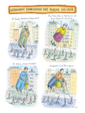 Four balloons of various unknown people. - New Yorker Cartoon Premium Giclee Print by Roz Chast