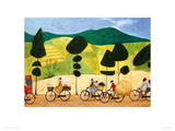 Rush hour on the road to Lushoto Giclee Print by Sam Toft
