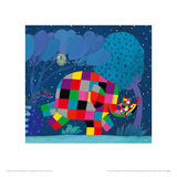 Elmer and the Lost Teddy Giclee Print by David Mckee