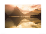 Mitre Peak At Sunset, Milford Sound, South Island, New Zealand Giclee Print by Dominic Webster