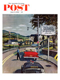 """""""Friendly City"""" Saturday Evening Post Cover, June 9, 1956 Giclee Print by Ben Kimberly Prins"""