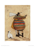 Dancing Cheek To Cheeky Giclee Print by Sam Toft