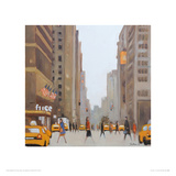 7th Avenue - New York Giclee Print by Jon Barker