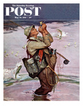 """The Fish are Jumping"" Saturday Evening Post Cover, May 19, 1951 Gicleetryck av Mead Schaeffer"