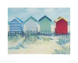 Suffolk Beach Huts Giclee Print by Jane Hewlett