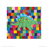 Stiggle Stegosaurus Giclee Print by Lauren Floodgate