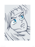 Girl in Grey Giclee Print by Terratag