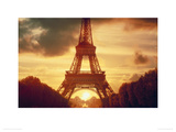 Eiffel Tower at Sunset, Paris Giclee Print by Jeff Hunter