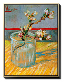 Blossoming Almond Branch in a Glass, c.1888 額入りキャンバスプリント : フィンセント・ファン・ゴッホ