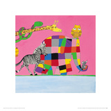 Elmer&#39;s Friends are all Different Giclee Print by David Mckee