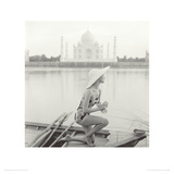 Taj Mahal, India, Vogue 1956 Lmina gicle por Norman Parkinson