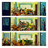 """""""Hurried Clean-up"""", October 24, 1953 Giclee Print by Thornton Utz"""
