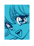 Girl in Blue Giclee Print by Terratag
