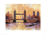 Tower Bridge, London Giclee Print by Colin Ruffell