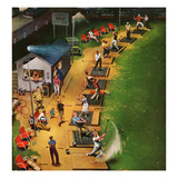 """Golf Driving Range"", July 26, 1952 Giclee Print by John Falter"