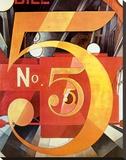 Le chiffre 5 en or (1928) Reproduction sur toile tendue par Charles Demuth
