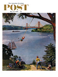 """San Francisco Bay Boys"" Saturday Evening Post Cover, May 26, 1956 Giclee Print by John Falter"