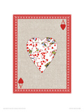 My Playful Heart Giclee Print by Angie Crowe