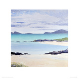 Sheep on the Shore, Barra Giclee Print by Alexandra Steele
