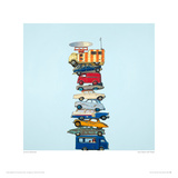 Auto Stack With Radar Giclee Print by Jeremy Dickinson