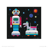 A Robot &amp; His Dog Giclee Print by Simon Hart