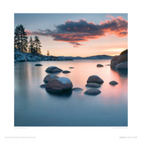 Sand Harbour Sunset Giclee Print by Elizabeth Carmel