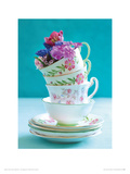 Pretty Cups and Flowers Giclee Print by Howard and Lauren Shooter and Floodgate