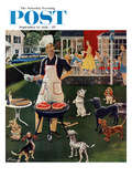 """Hot Dogs"" Saturday Evening Post Cover, September 13, 1958 Giclee Print by Ben Kimberly Prins"
