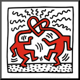Untitled, c.1989 Mounted Print by Keith Haring