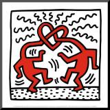 Zonder titel, ca. 1989 Kunstdruk geperst op hout van Keith Haring