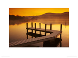 Frosted Jetty on Derwent Water Giclee Print by Tom Mackie