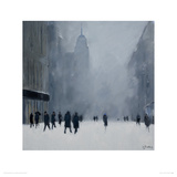 White Out - 5th Avenue Giclee Print by Jon Barker