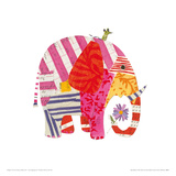Big Elephant, Little Mouse Giclee Print by Sarah Battle