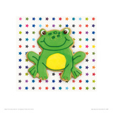 Happy Hoppy Frog Giclee Print by Lauren Floodgate