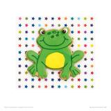 Happy Hoppy Frog Giclee Print by Lauren Floodgate