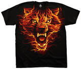 Fantasy- Fire Wolf T-Shirt