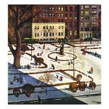 """""""Gramercy Park"""", February 11, 1950 Giclee Print by John Falter"""