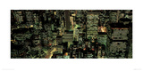 Manhattan Night Giclee Print by Richard Berenholtz