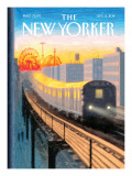 Coney Island Express - The New Yorker Cover, September 5, 2011 Regular Giclee Print by Eric Drooker