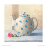 Teapot And Rose Giclee Print by Peter McGowan