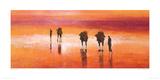 Camels, Chalbi Desert, Kenya Giclee Print by Jonathan Sanders